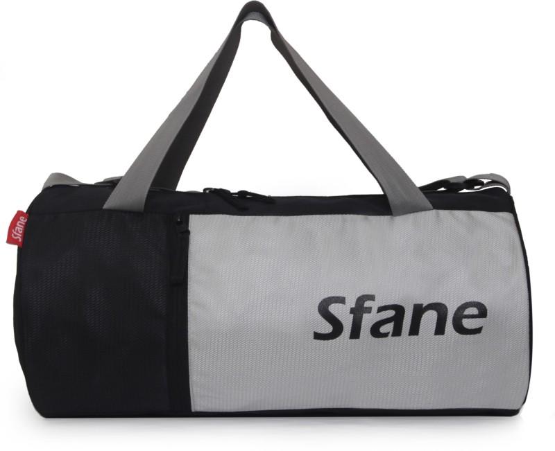 sfane Trendy Men & Women Grey Sports Duffel Gym Bag(Black, Grey)