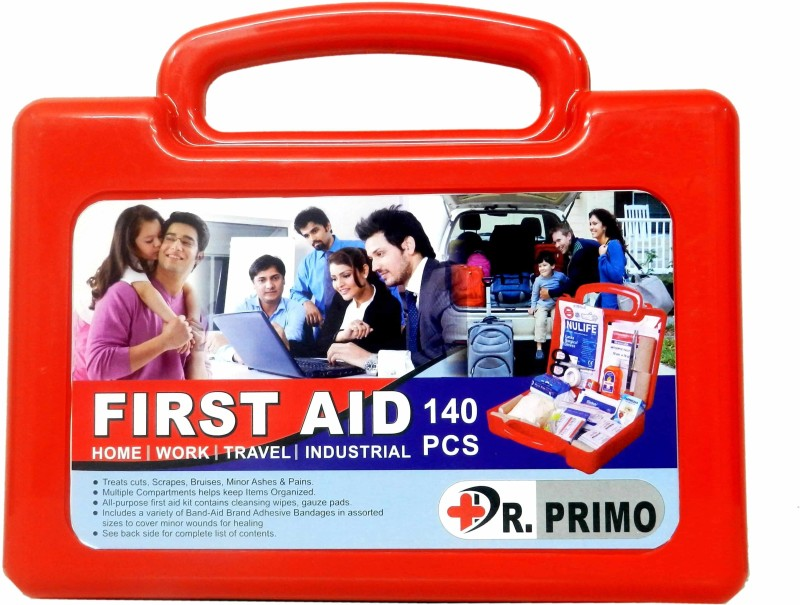 Dr Primo First Aid Kit to Clean, Protect and Treat Injuries, 140 Pieces Set - 20 Person Kit for Office, Home, Car, School, Emergency, Camping, Hunting, Outdoor and Sports First Aid Kit(Home, Sports and Fitness, Workplace, Vehicle)