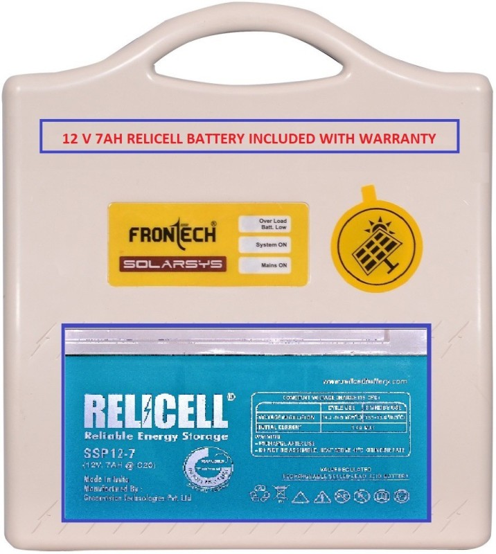 Frontech CFL/LED Home UPS with Relicell 12V 7ah Battery - Square Wave Inverter
