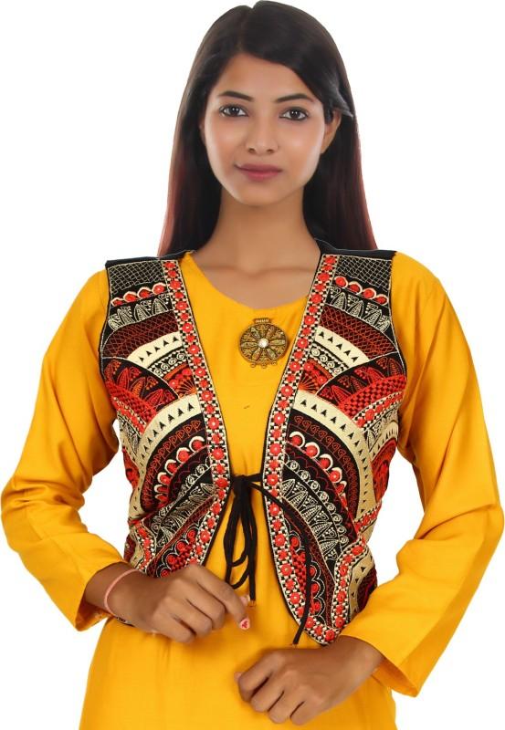 Trendish Sleeveless Printed Women Jacket