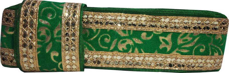Utkarsh WG0041 WG0037 Green And Golden Color saree Border With Lace Gota Patti Design Machine Made Embroidery Lace Border With 2 Inch Width And 9 Mtr Long Lace Reel(Pack of 1)