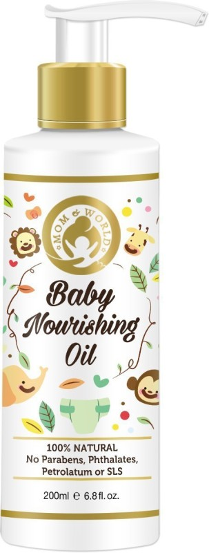Mom & World Baby Nourishing Oil For Baby Massage (With 100% Pure Oils)(200 ml)