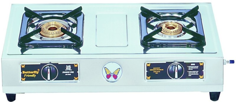 Butterfly Friendly 2B Stainless Steel Manual Gas Stove(2 Burners)