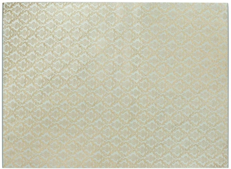 Ratan Jaipur DAMASK Printed Handmade Paper Gift Wrapper(White & Blue)