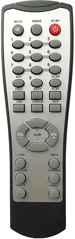 LipiWorld HT3 Home Theater System Remote Control Compatible for Home Theater CEMEX AUX FM USB Remote Controller(Grey)