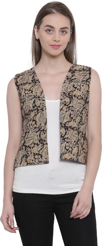 Soochirang Floral Print Women Waistcoat