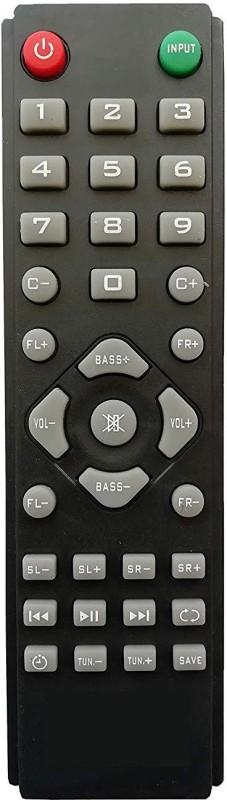 LipiWorld Home Theater System Remote Control Compatible for ZEBRONICS 12 Remote Controller(Black)