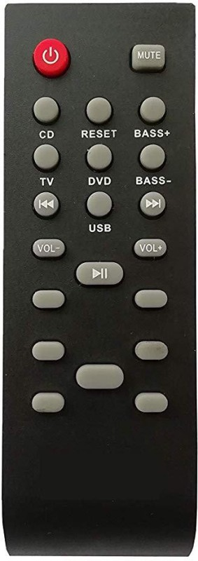 LipiWorld DVD and Home Theater System Remote Control Compatible for Philips USB Remote Controller(Black)