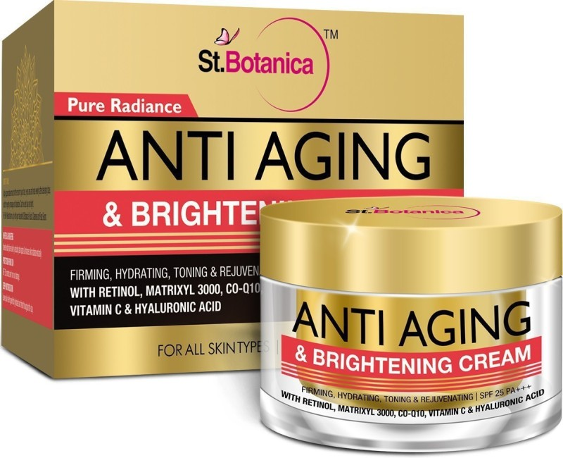 StBotanica Pure Radiance Anti Aging & Face Brightening Cream, SPF 25 - Firming, Hydrating, Toning & Rejuvenating(50 g)