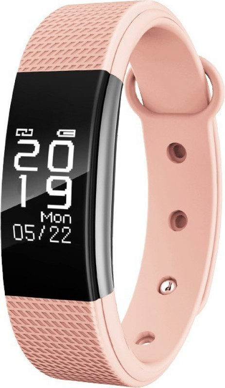 Bingo F1 Fitness Smart Band(Light Pink Strap, Size : Standard)