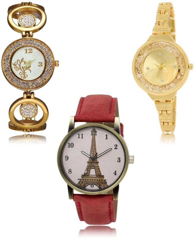 AD Global AD-LR-204-224-230 Multicolor Combo Analog Analog Watch  - For Women