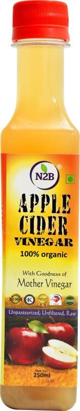 N2B APPLE CIDER VINEGAR FOR HEALTH MANAGEMENT ORGANIC UNPASTEURIZD UNFILTERED & RAW 250ml Vinegar(250 ml)