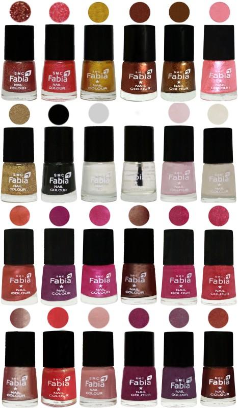 Fabia Nail Polish (M21) multicolors(Pack of 24)