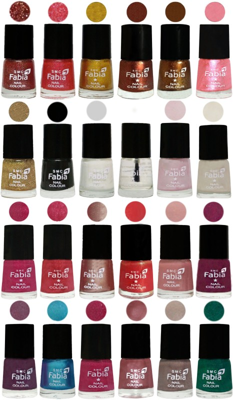 Fabia Nail Polish (M140) MULTICOLOR(Pack of 24)