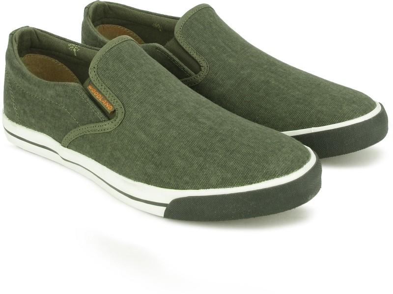 Woodland Slip On Sneakers For Men(Olive)