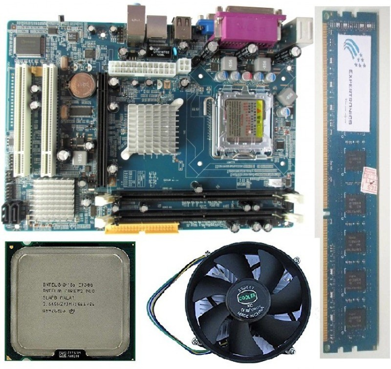 Expertronics Core 2 Duo Processor With 945 Motherboard along With 2GB DDR2 RAM and FAN Combo Motherboard(Black)