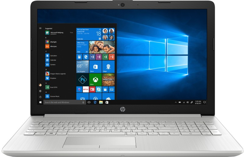 HP 15 Core i3 7th Gen - (4 GB/1 TB HDD/Windows 10 Home) 15-da0327TU Laptop(15.6 inch, Natural Silver, 2.18 kg, With MS Office)