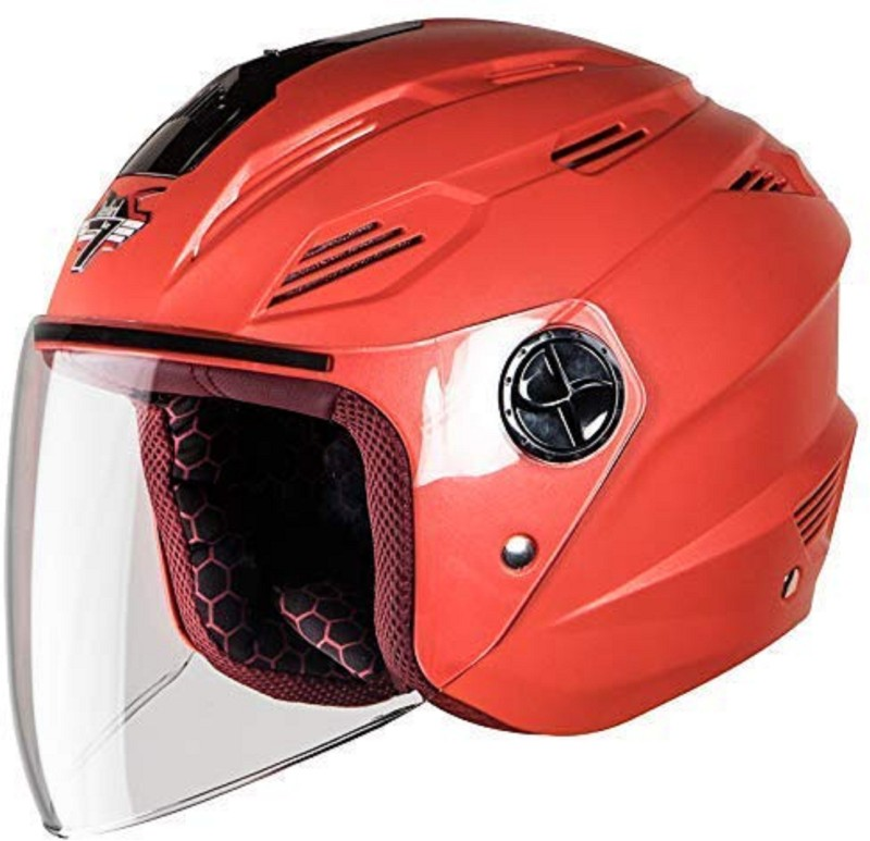 Steelbird sba6 ela dashing Red 58 cm Motorbike Helmet(Red)
