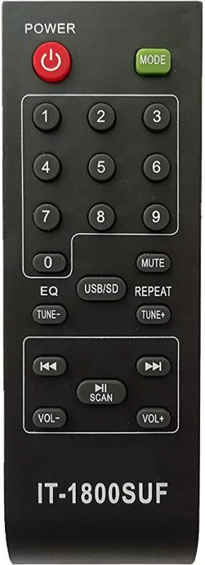 LipiWorld T-1800 SUF Home Theater System Remote Control Compatible for INTEX Home Theater. Remote Controller(Black)
