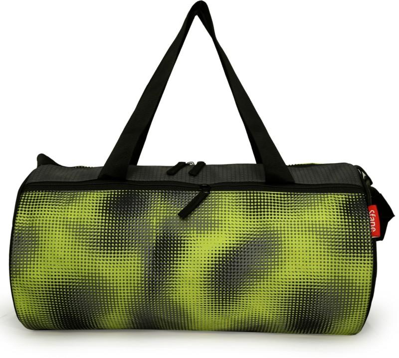 sfane Printed Green & Grey Sports Duffel Men & Women Gym Bag(Grey)