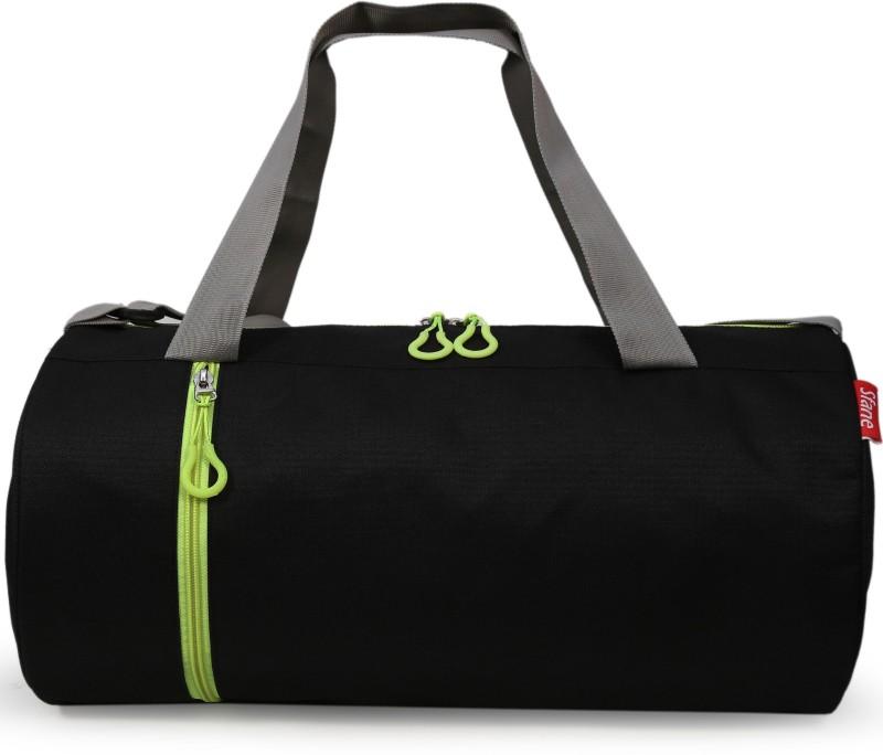 sfane Trendy Men & Women Black Sports Duffel Gym Bag(Green, Black)
