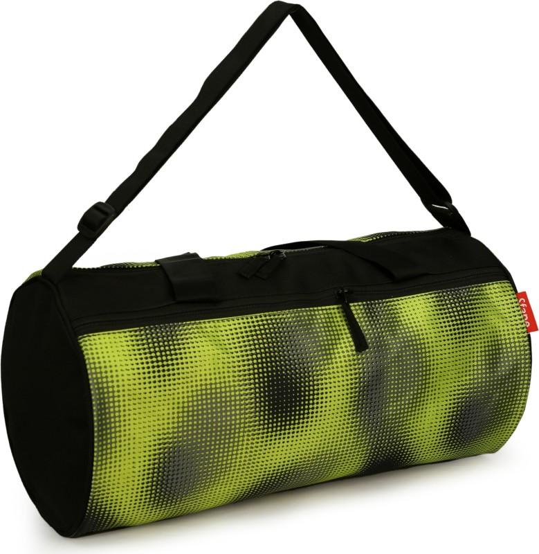 sfane Printed Green & Black Sports Duffel Men & Women Gym Bag(Black)