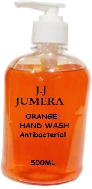J.J JUMERA Antibacterial ORANGE Hand Wash 500ML Pump Dispenser(500 ml)