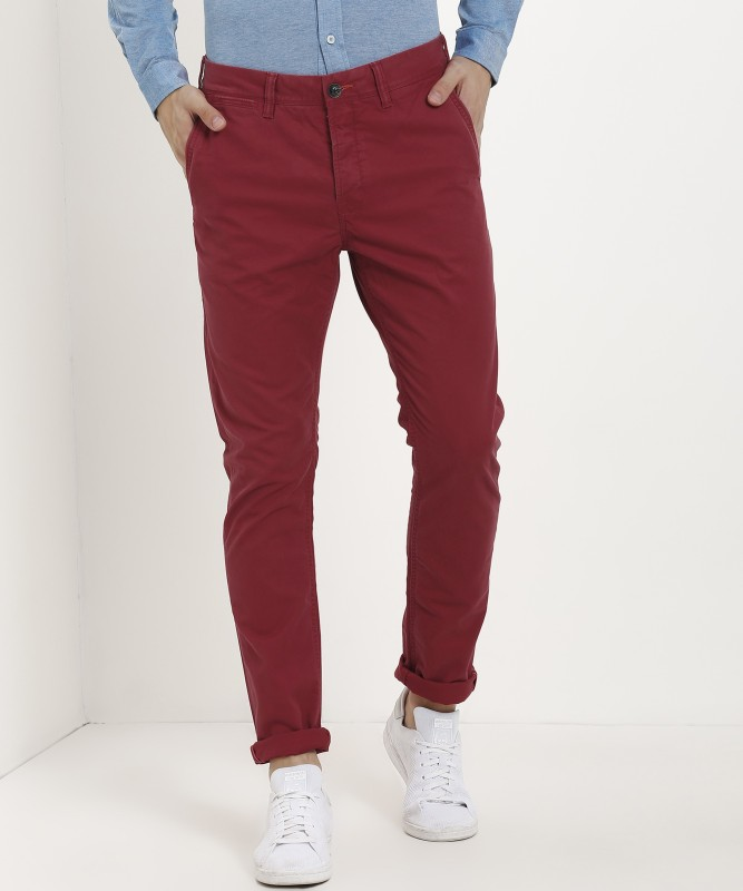 Superdry Regular Fit Men's Red Trousers