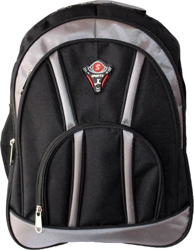 Aoking Stylish Backpack(Black, Silver, 18 L)