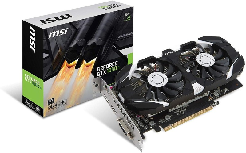 MSI NVIDIA GEFORCE GTX 1050TI 4G OCV1 4 GB GDDR5 Graphics Card