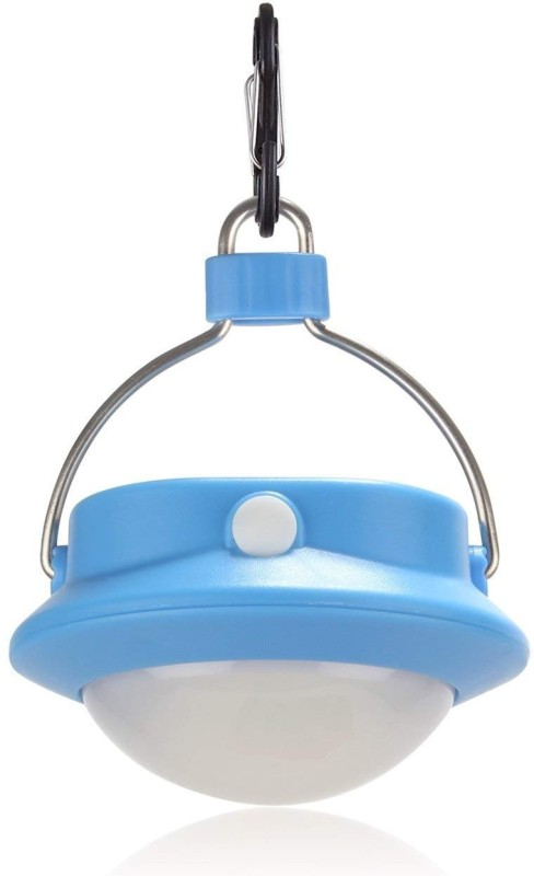 TinyBrite Battery Powered Round LED Tent Light for Outdoor, Camping, Hiking, Power Outages LED Lantern(Blue)