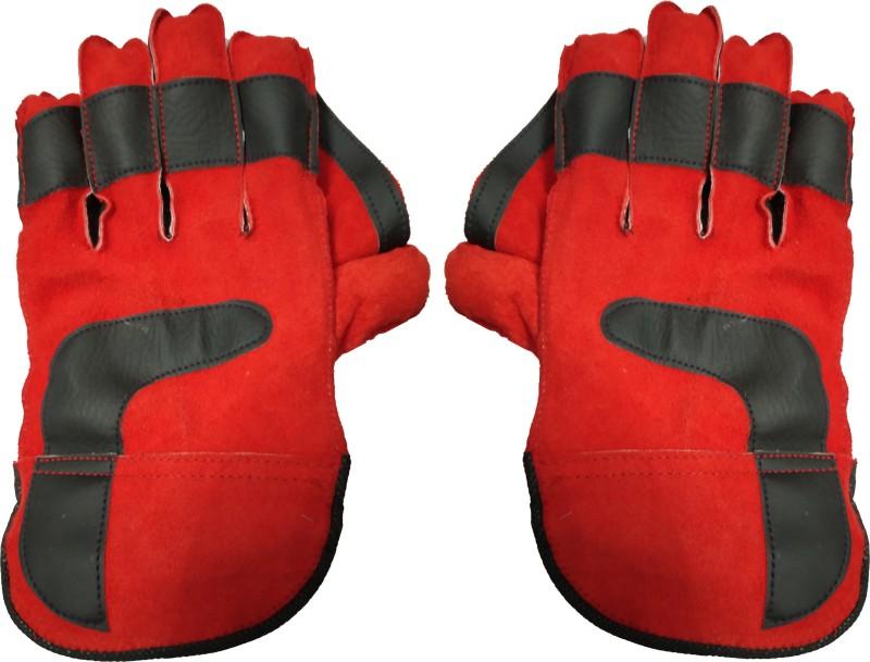 JMO27Deals Alligator Tournament Cricket Wicket Keeping Gloves (Men, Red)
