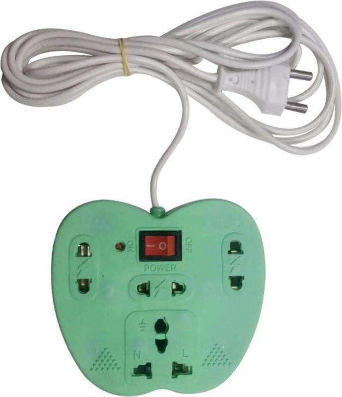 Bluerider BR_028 4 Socket Surge Protector(Green)