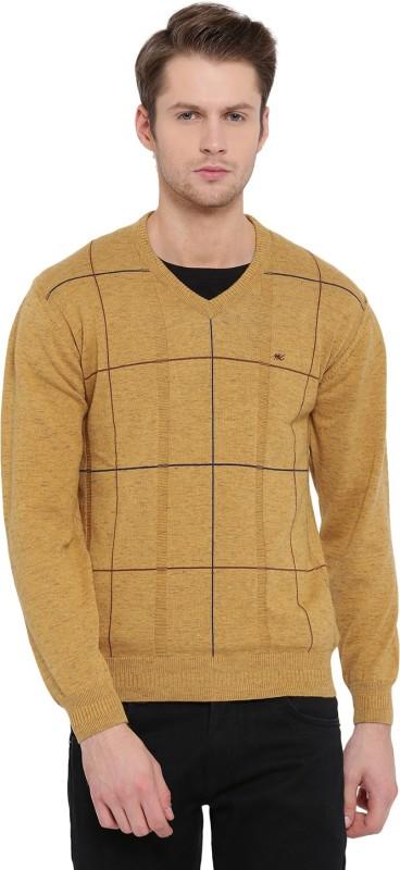 Monte Carlo V-neck Printed Men's Pullover