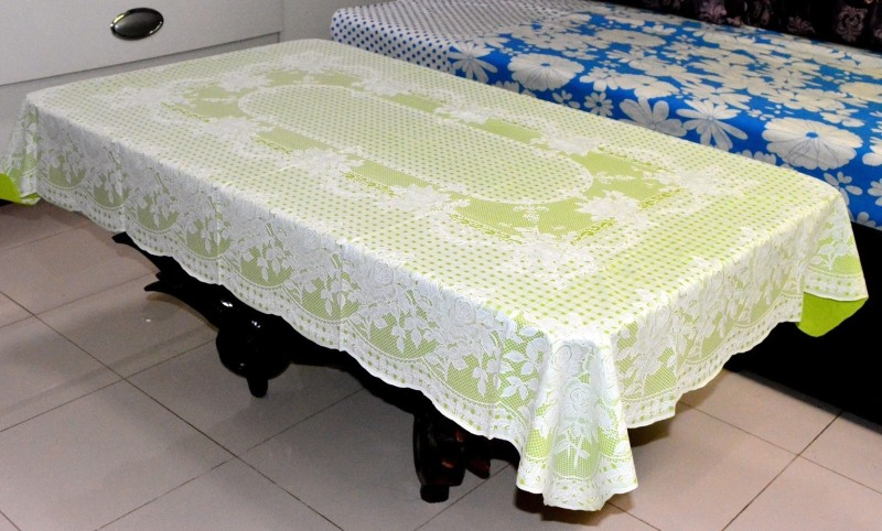 Katwa Clasic Floral 2 Seater Table Cover(Green, PVC)