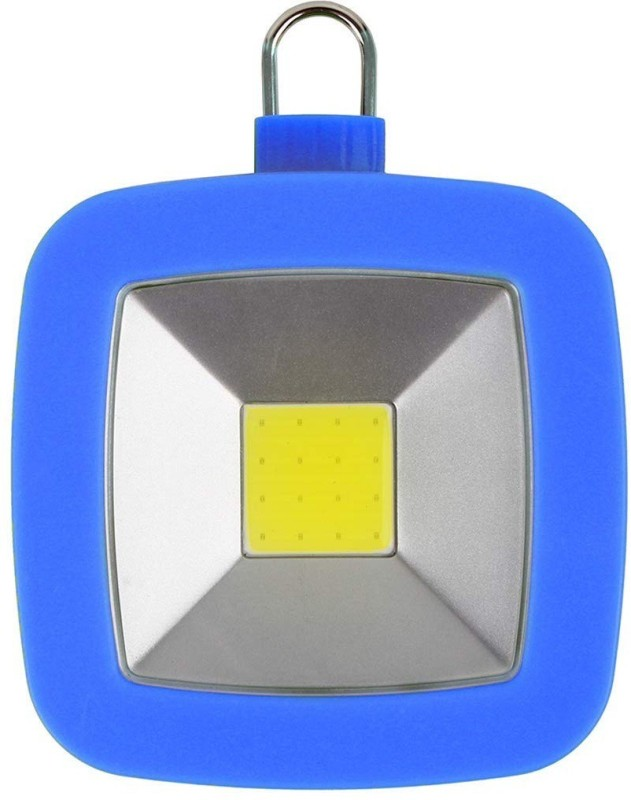 TinyBrite Battery Powered Square LED Tent Light for Emergency, Camping, Power Outages LED Lantern(Blue)