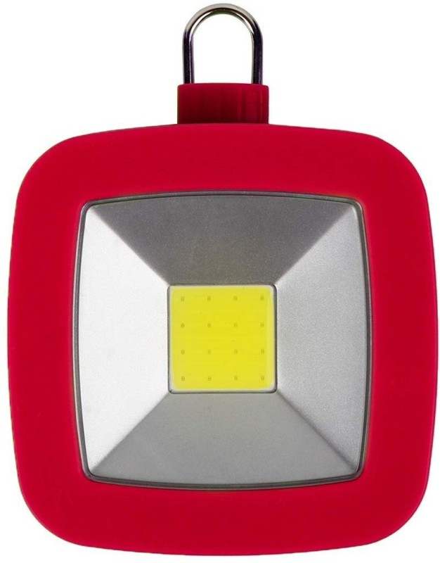 TinyBrite Battery Powered Square LED Light for Outdoor, Emergency, Camping, Power Outages LED Lantern(Red)