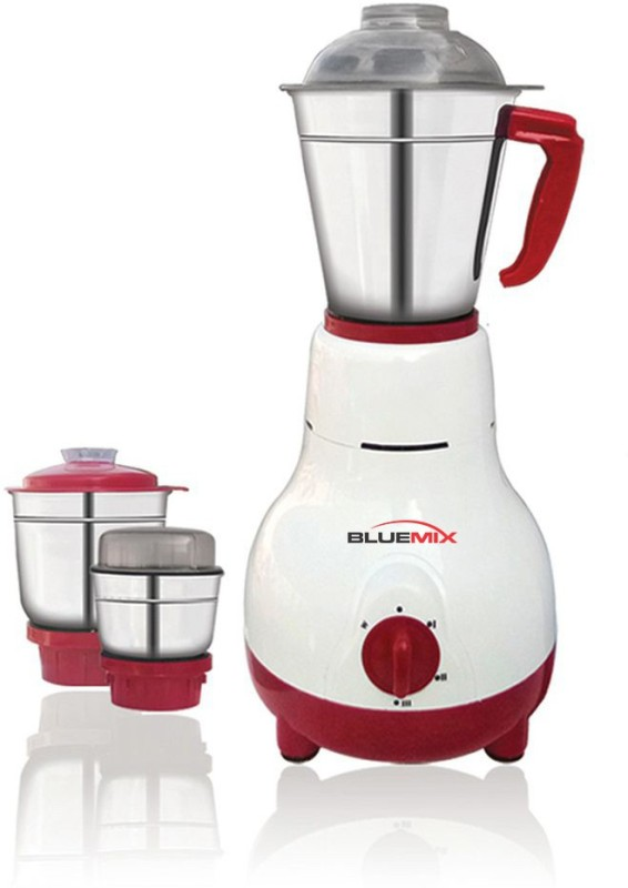 bluemix BM-4 3 JAR MIXER GRINDER 650 Mixer Grinder(Off White Red, 3 Jars)