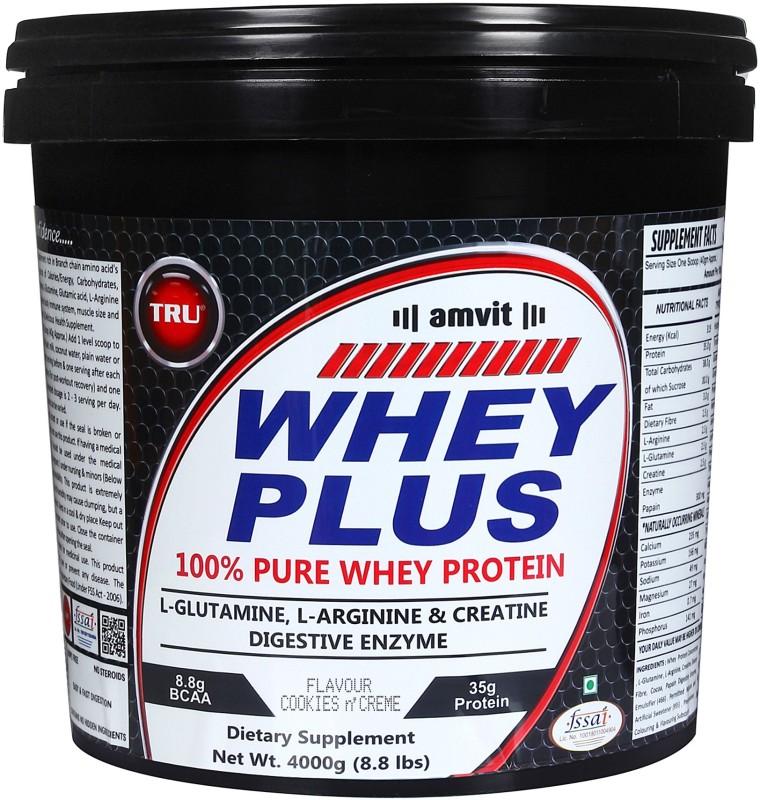 TRU WHEY PLUS Whey Protein(4000 g, COOKIES N CREAM)
