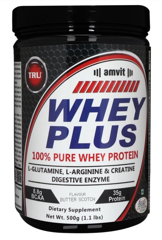 TRU WHEY PLUS Whey Protein(500 g, BUTTERSCOTCH)