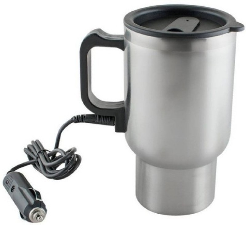 Luxafare 12V Car Charging Electric Kettle Stainless Steel Travel Coffee Mug Cup Heated Thermos Self Heating Mug