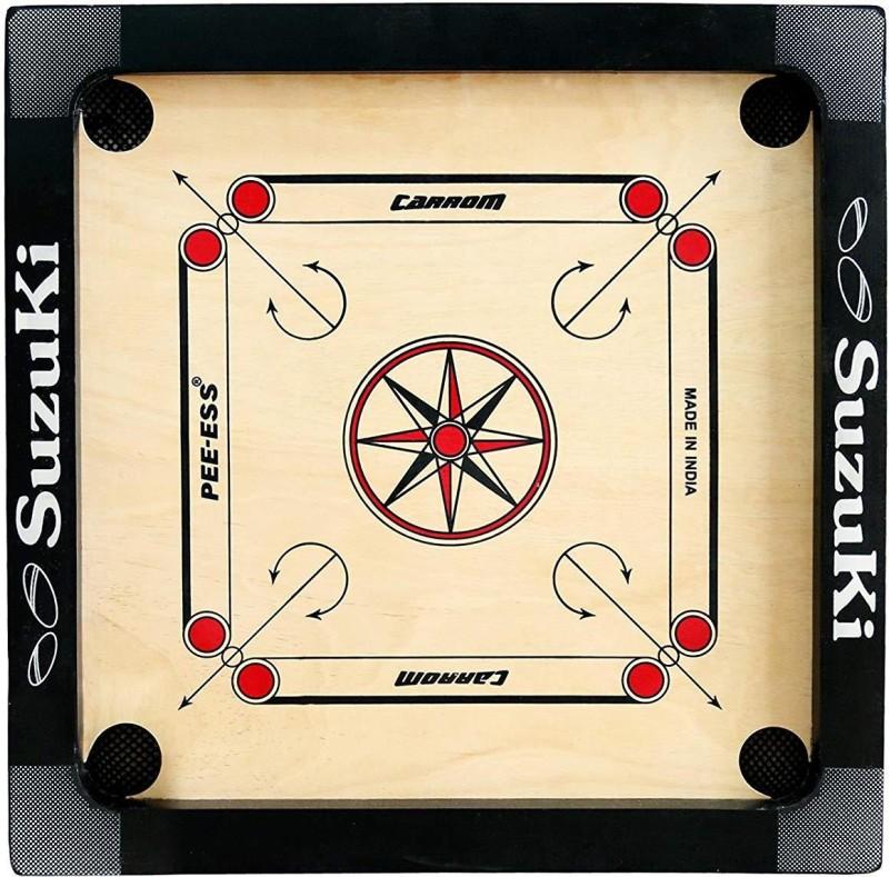 Suzuki Carrom Board Small Size 12.7 Carrom Board(Black)