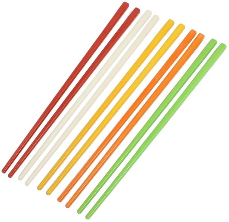 Shrih Eating Bone China Japanese Chopstick(Multicolor Pack of 10)
