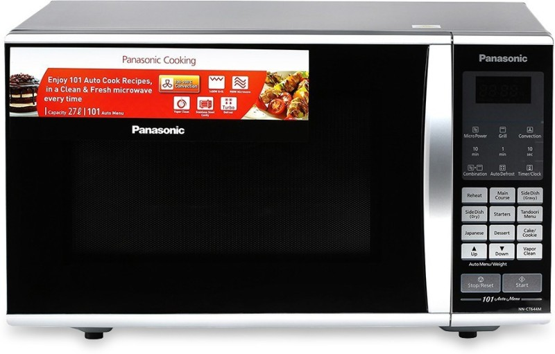 Panasonic 27 L Convection Microwave Oven(NN-CT644MFDG, Black)