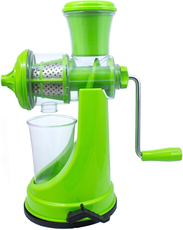 well grip Fruit & Vegetable Steel Handle with Vacuum Locking System, Green Plastic Hand Juicer(Green Pack of 1)