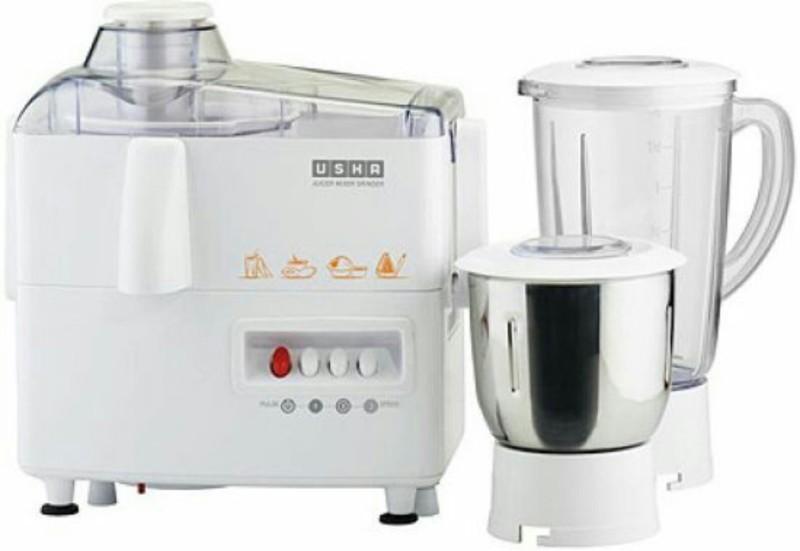 Usha JMG 3345 230 W Juicer Mixer Grinder(White, 2 Jars)
