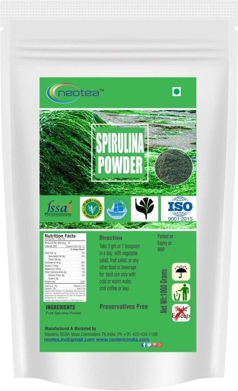 Neotea Spirulina Powder Nutrition Drink(1000 g, supplimentary product Flavored)