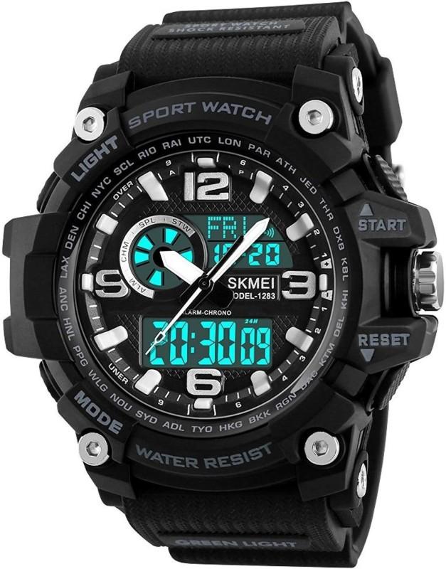 Skmei RSK-1283BLK Skmei Military Series Analogue Digital Black Dial Watch for Men Analog-Digital Watch  - For Men