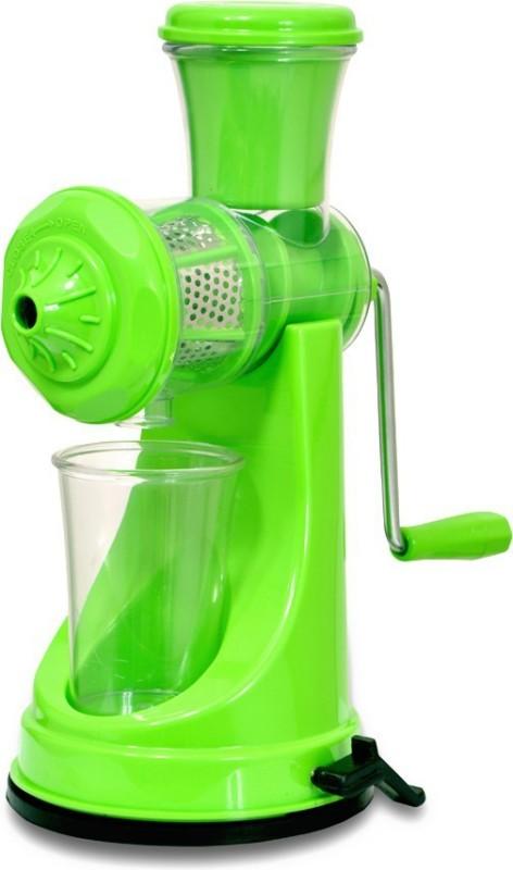 kkart Deluxe manual Fruit & Vegetable Steel Handle with Vacuum Locking System Plastic Hand Juicer(Green Pack of 1)