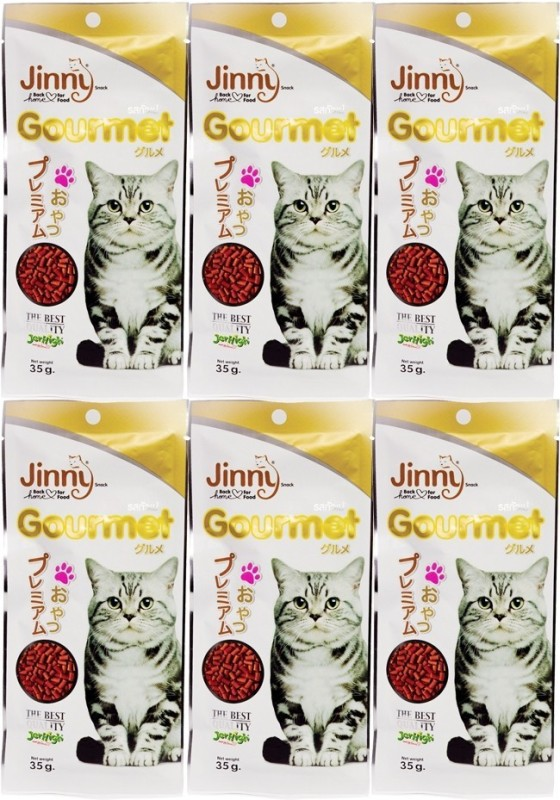 Jerhigh Jinny Gourmet 35g. For Cat Liver Cat Treat(35 g, Pack of 6)